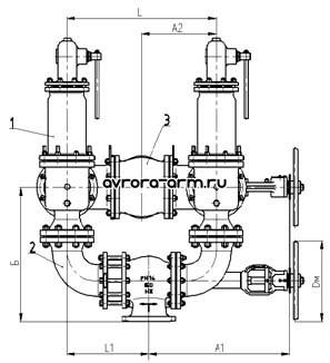 Клапан предохранительный СППК5С 100-160 ХЛ1